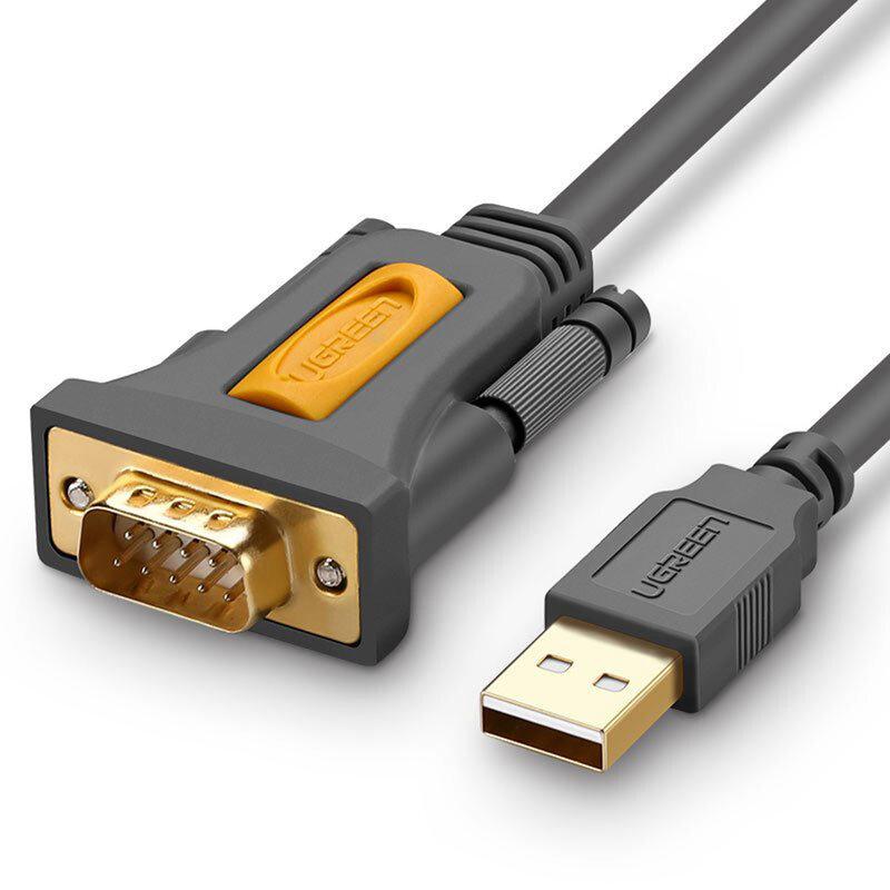 Cablu adaptor serial USB la RS-232 DB9 Ugreen, 1m, gri, 20210