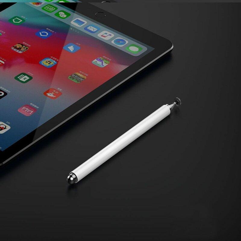 Stylus pen JoyRoom universal, Android, iOS, aluminiu, alb, JR-BP560