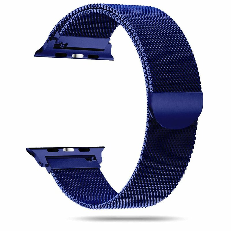 Curea Apple Watch 1 42mm Tech-Protect Milaneseband - Bleumarin