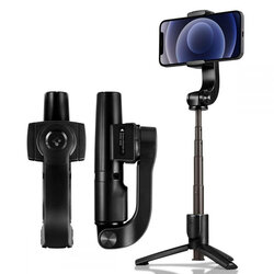 Gimbal telefon, selfie stick tripod wireless Spigen S610W, iOS, Android, negru