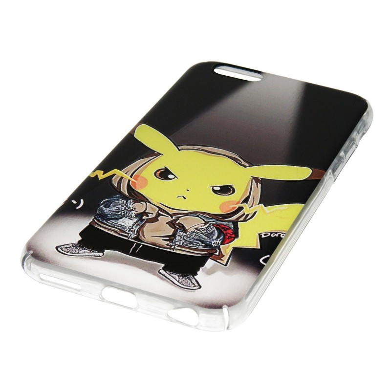 Husa Apple iPhone 6, 6s Plastic cu Model Pokemon Angry Pikachu