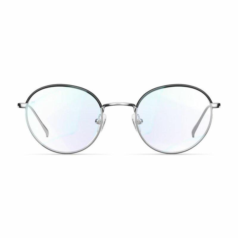 Ochelari de protectie calculator impotriva luminii albastre Meller Yuda, negru argintiu