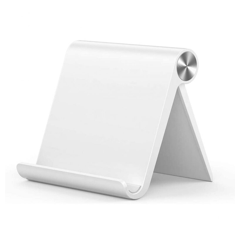 Suport telefon, tableta birou Tech-Protect Z1, stand universal pliabil, alb