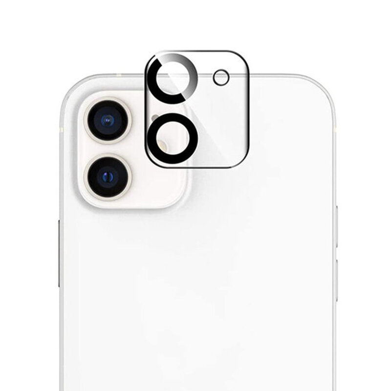 Folie camera iPhone 12 mini Lito S+ Glass Protector, negru