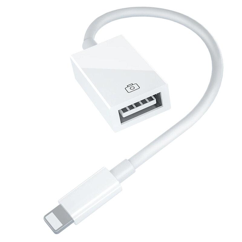 Adaptor OTG Mobster, convertor Lightning la USB, alb