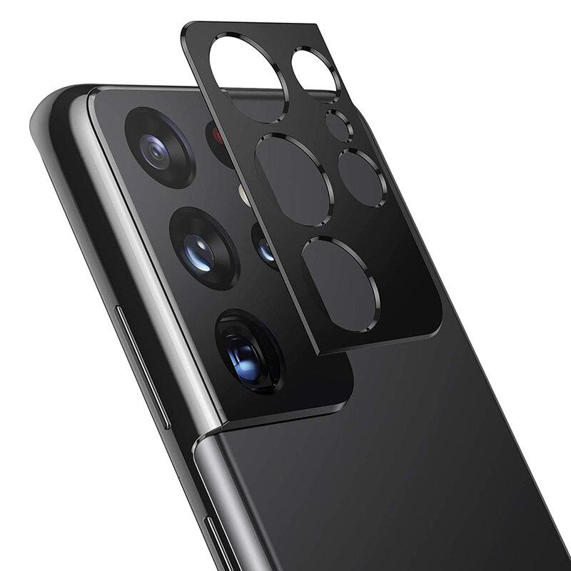 Folie camera Samsung Galaxy S21 Ultra 5G Lito S+ Metal Protector, negru