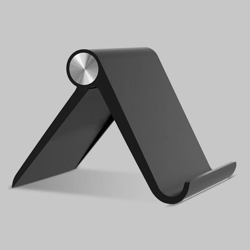 Suport telefon, tableta birou Tech-Protect Z1, stand universal pliabil, negru