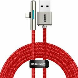 Cablu de date Baseus USB la Type-C 90°, 4A, 40W, 2m, rosu, CAT7C-C09
