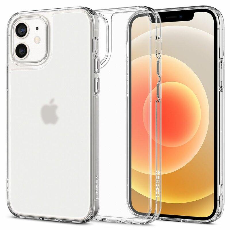 Husa iPhone 12 Spigen Quartz Hybrid, transparent mat