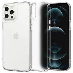 Husa iPhone 12 Pro Spigen Quartz Hybrid, transparent mat