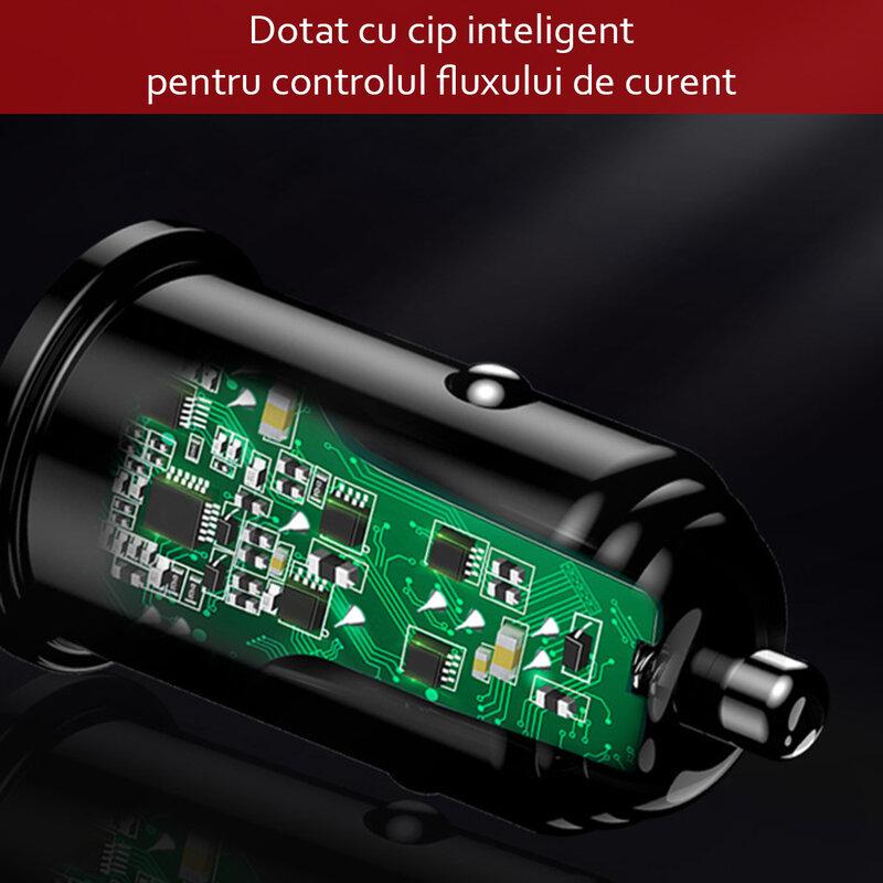 Incarcator auto Yesido Y38, USB-A QC2.0, QC3.0, FCP, AFC 20W, 4A, negru