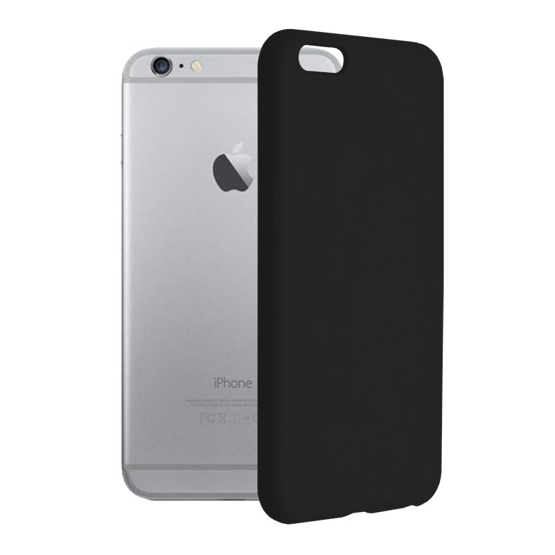 Husa iPhone 6 Plus / 6s Plus Techsuit Soft Edge Silicone, negru