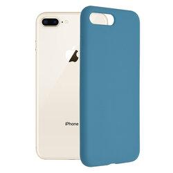 Husa iPhone 8 Plus Techsuit Soft Edge Silicone, albastru