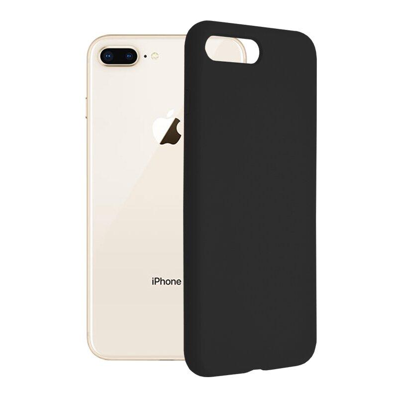 Husa iPhone 8 Plus Techsuit Soft Edge Silicone, negru