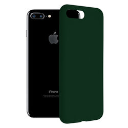 Husa iPhone 7 Plus Techsuit Soft Edge Silicone, verde inchis