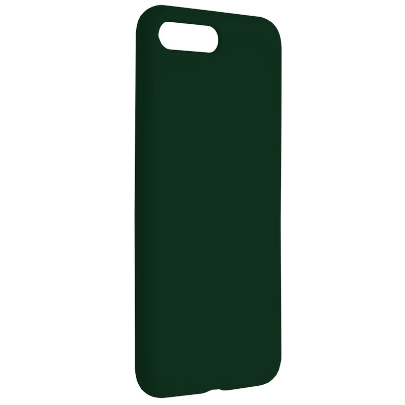 Husa iPhone 8 Plus Techsuit Soft Edge Silicone, verde inchis