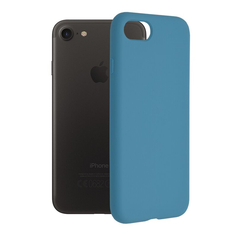 Husa iPhone SE 2, SE 2020 Techsuit Soft Edge Silicone, albastru