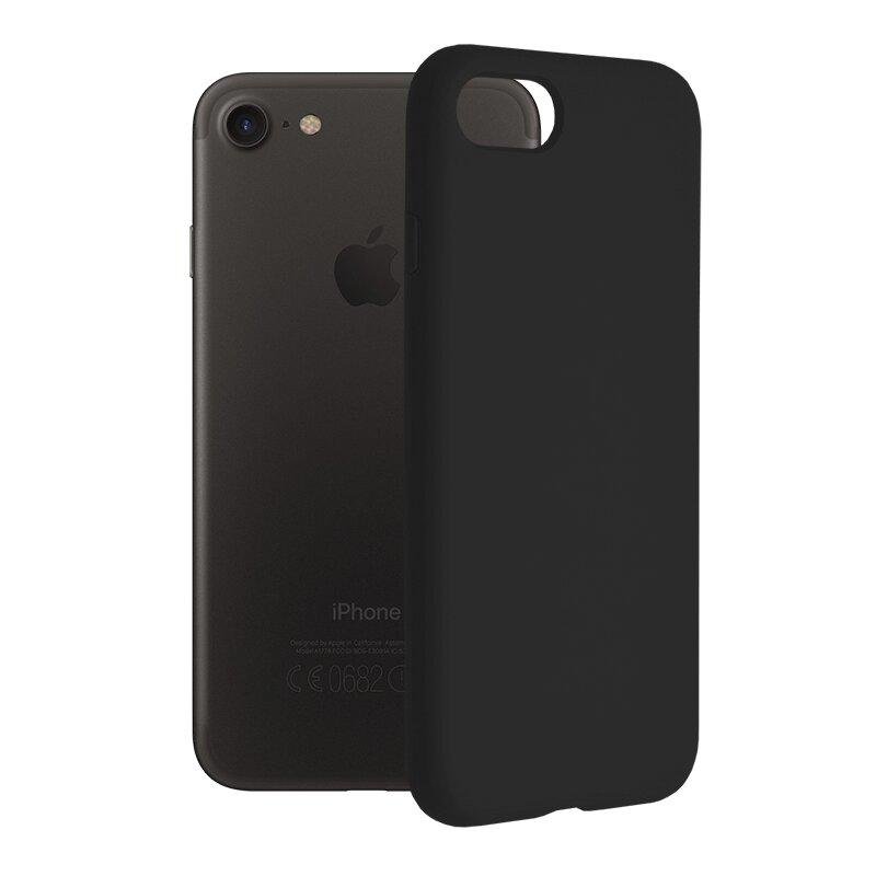 Husa iPhone SE 2, SE 2020 Techsuit Soft Edge Silicone, negru