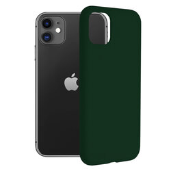 Husa iPhone 11 Techsuit Soft Edge Silicone, verde inchis