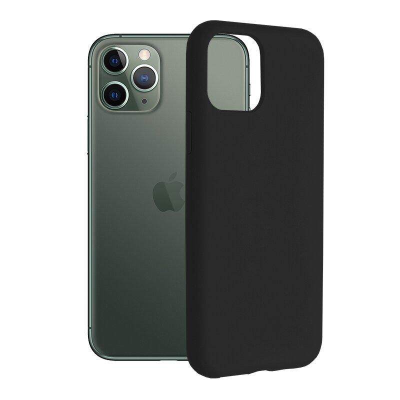 Husa iPhone 11 Pro Techsuit Soft Edge Silicone, negru