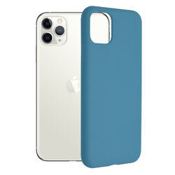 Husa iPhone 11 Pro Max Techsuit Soft Edge Silicone, albastru