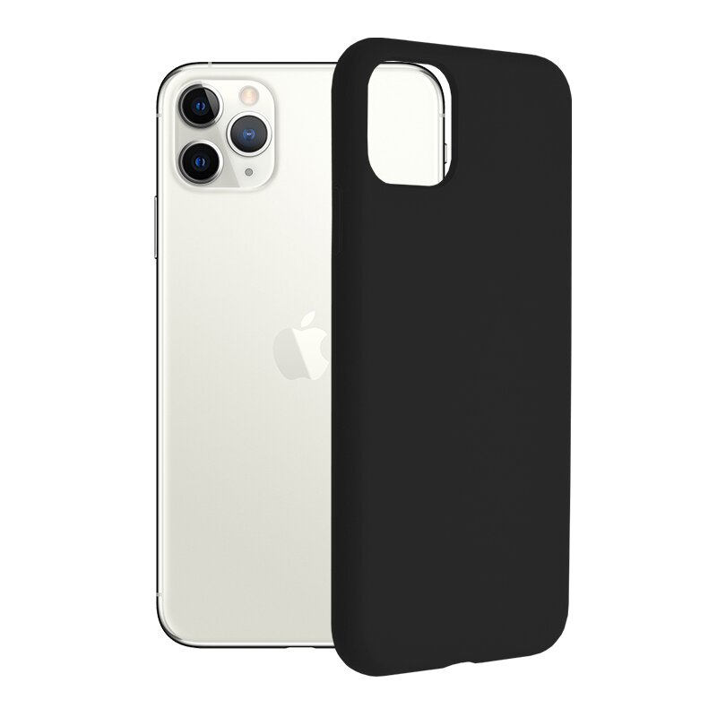 Husa iPhone 11 Pro Max Techsuit Soft Edge Silicone, negru