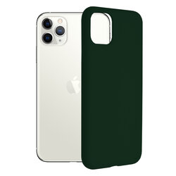 Husa iPhone 11 Pro Max Techsuit Soft Edge Silicone, verde inchis