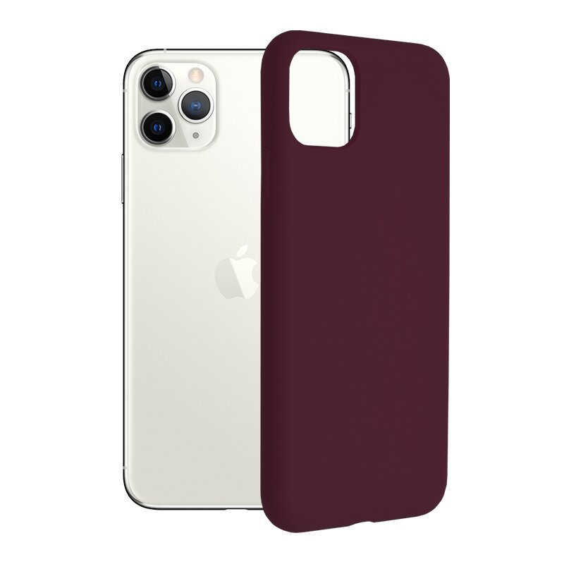 Husa iPhone 11 Pro Max Techsuit Soft Edge Silicone, violet