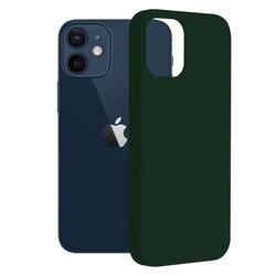 Husa iPhone 12 mini Techsuit Soft Edge Silicone, verde inchis
