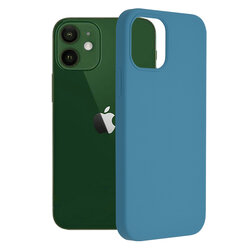 Husa iPhone 12 Techsuit Soft Edge Silicone, albastru