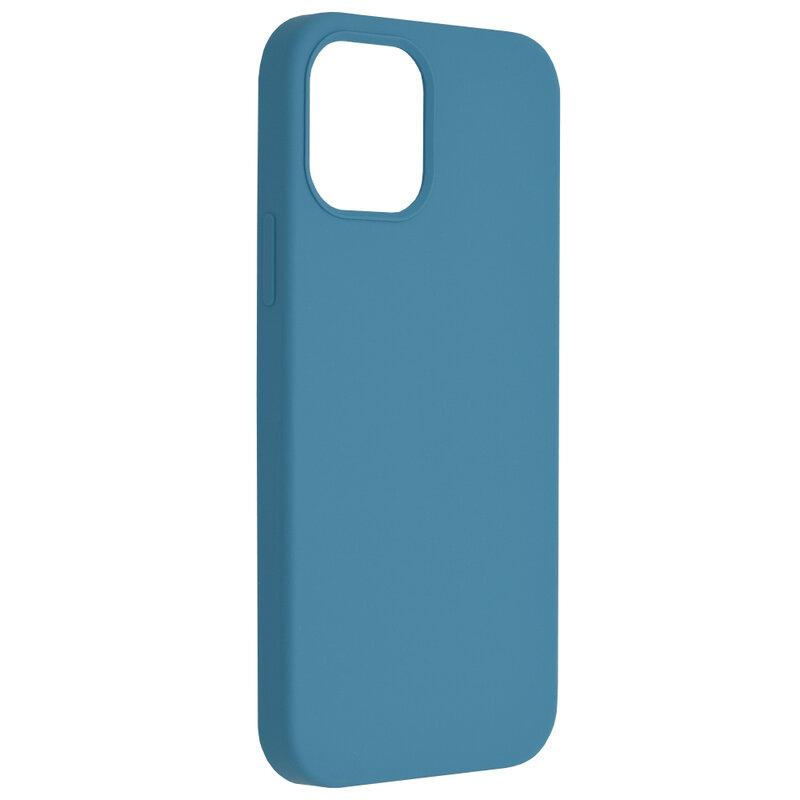 Husa iPhone 12 Techsuit Soft Edge Silicone, albastru