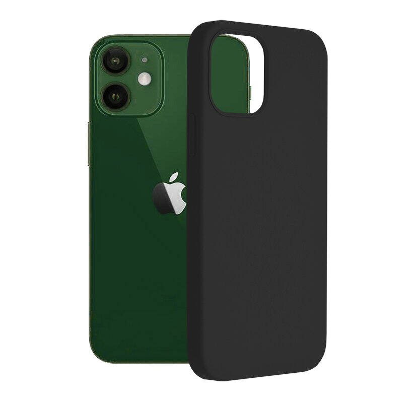 Husa iPhone 12 Techsuit Soft Edge Silicone, negru
