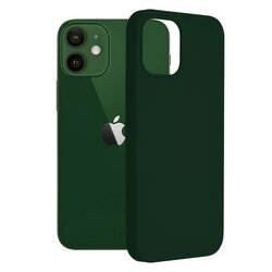 Husa iPhone 12 Techsuit Soft Edge Silicone, verde inchis