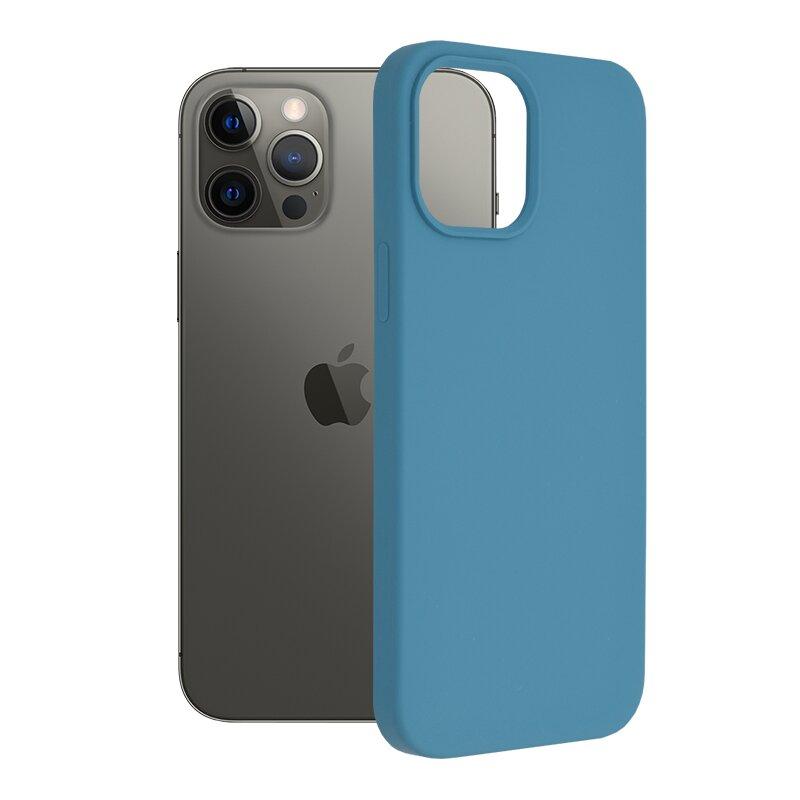 Husa iPhone 12 Pro Max Techsuit Soft Edge Silicone, albastru