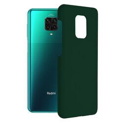 Husa Xiaomi Redmi Note 9 Pro Techsuit Soft Edge Silicone, verde inchis