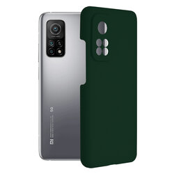 Husa Xiaomi Mi 10T 5G Techsuit Soft Edge Silicone, verde inchis
