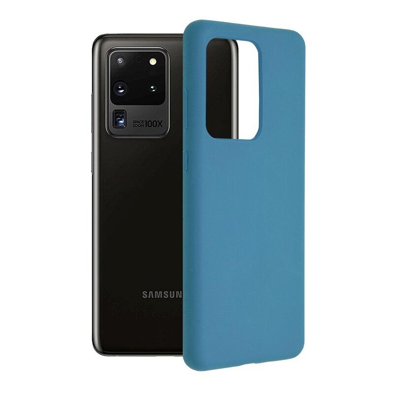 Husa Samsung Galaxy S20 Ultra 5G Techsuit Soft Edge Silicone, albastru