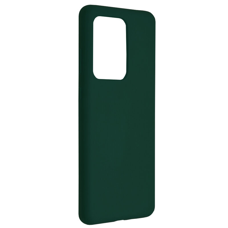 Husa Samsung Galaxy S20 Ultra 5G Techsuit Soft Edge Silicone, verde inchis