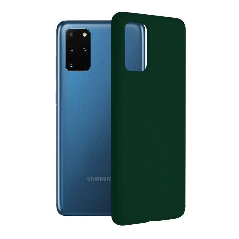 Husa Samsung Galaxy S20 Plus 5G Techsuit Soft Edge Silicone, verde inchis