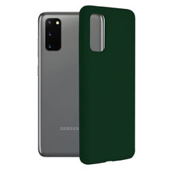 Husa Samsung Galaxy S20 5G Techsuit Soft Edge Silicone, verde inchis