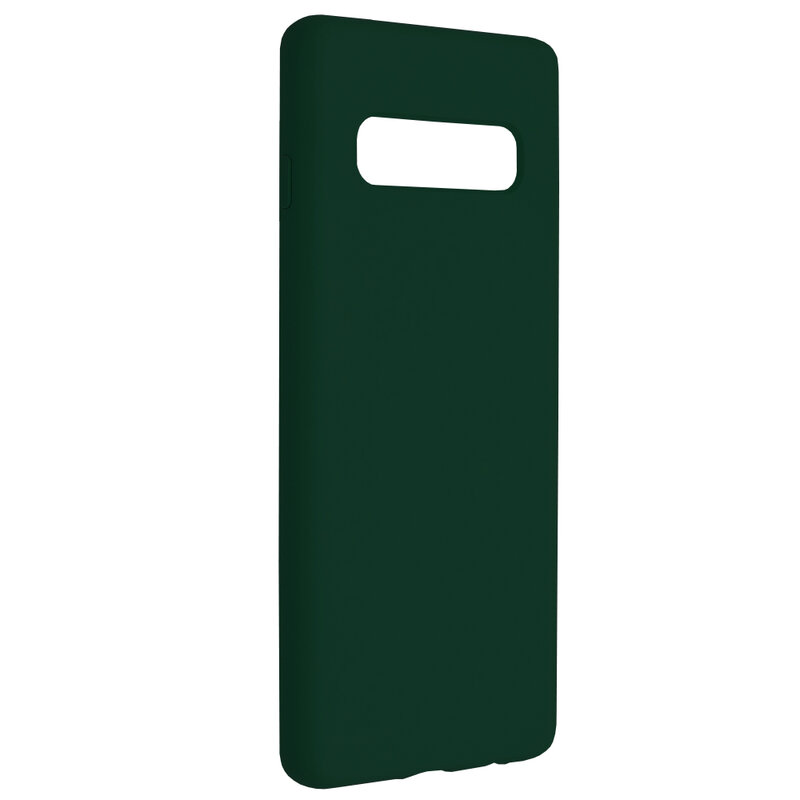Husa Samsung Galaxy S10 Techsuit Soft Edge Silicone, verde inchis