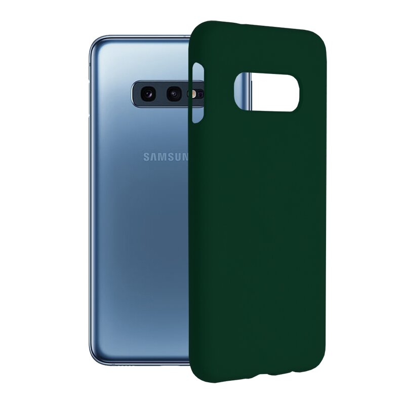 Husa Samsung Galaxy S10e Techsuit Soft Edge Silicone, verde inchis