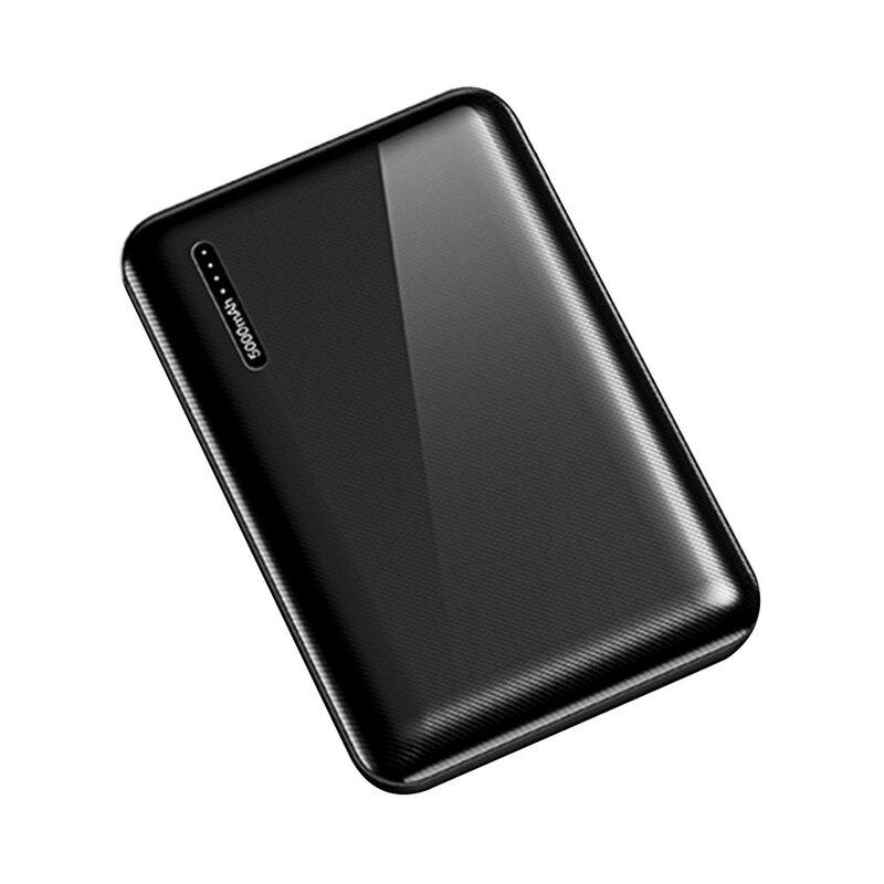 Baterie externa USAMS PB39, 5000mAh, 2x USB, Type-C, 2A, negru
