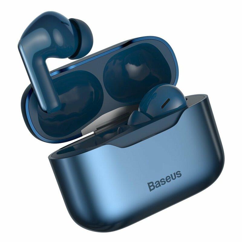 Casti wireless in-ear Baseus, TWS earbuds, noise cancellation, albastru, NGS1P-03