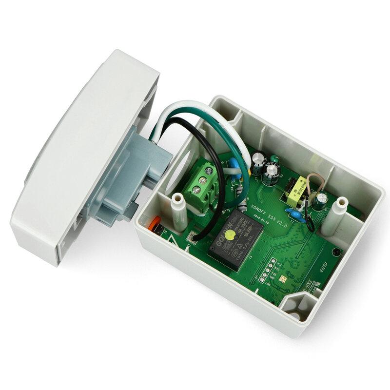 Priza inteligenta smart Wi-Fi Sonoff S55, wireless, waterproof, 16A, alb