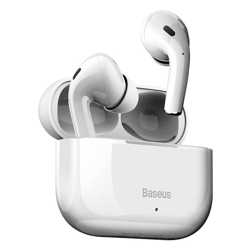 Casti wireless in-ear Baseus, TWS earbuds, Bluetooth, alb, W3 NGW3-02