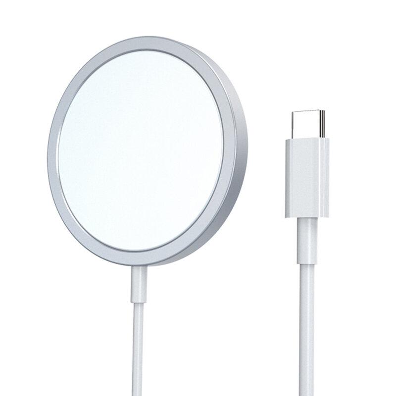 Incarcator iPhone 12 wireless MagSafe Yesido DS10, 15W, cablu Type-C, alb