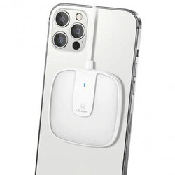 Incarcator wireless Samsung, iPhone 12 USAMS, 15W, alb, US-CD153