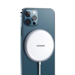 Incarcator wireless iPhone 12 MagSafe USAMS W2, 15W, argintiu, US-CD160