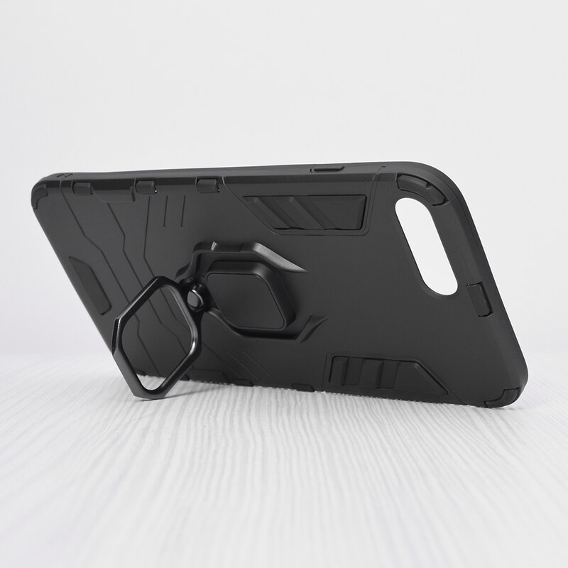 Husa iPhone 7 Plus Techsuit Silicone Shield, Negru